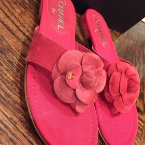 d2640468ac7 CHANEL Shoes - Chanel 16C Red Suede CC Camellia Flower Mule Slide